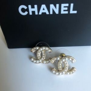Authentic Chanel Pearl stud earrings